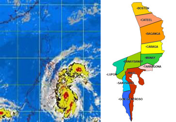 affected areas in davao oriental