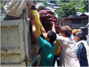 Evacuation during the 2008 armed conflict in Lanao del Norte